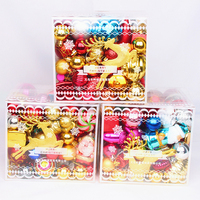 Christmas decorations a lot of packages decorated ball box Christmas tree ornaments pendant Christmas ball bright ball