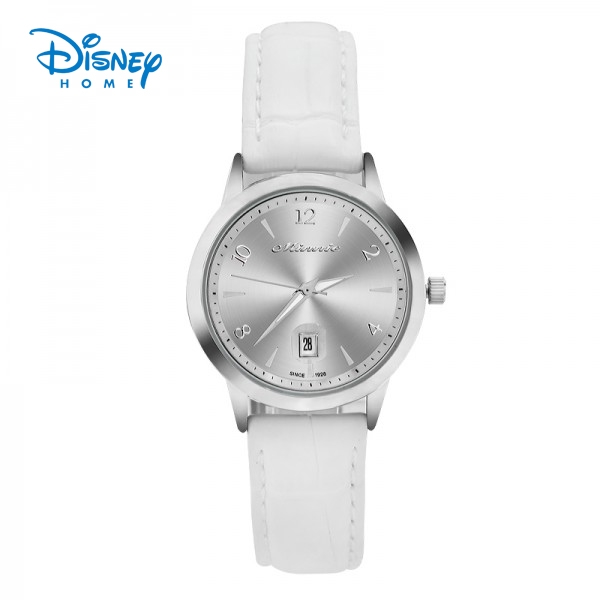 100% Genuine Disney Women watches Fashion Casual brand watch relogio masculino white Leather strap watch 79104