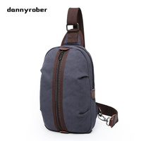 2017 Fashion Canvas Chest Pack Men Messenger Bags Casual Travel Small Retro Crossbody Male Shoulder Bag