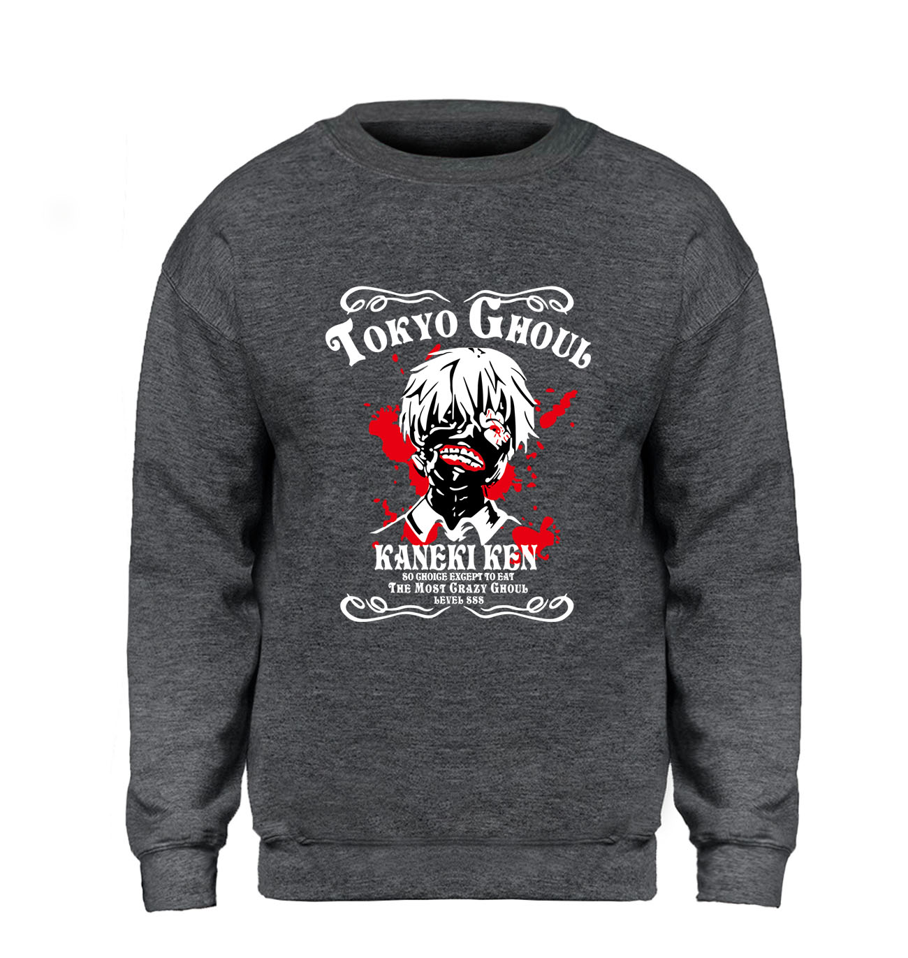 Tokyo Ghoul Sweatshirt Men Sasuke Ninja  Hoodie Japan Anime Pullover Sweatshirts Winter Autumn Fleece Warm Hip Hop Sportswear