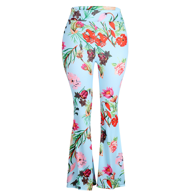 plus size clothes flare pant 2019 fashion harajuku print casual girls trousers woman streetwear clothing women pants pattern in Pants amp Capris from Women 39 s Clothing