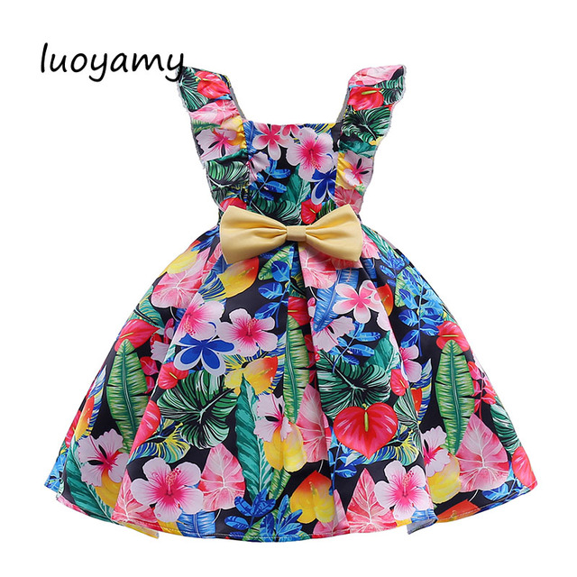 5e80c9816d713 luoyamy Infant Party Dress 2018 Summer Kids Baby Floral Vintage Dress For  Girls Princess Dress Children Clothing-in Dresses from Mother & Kids on ...