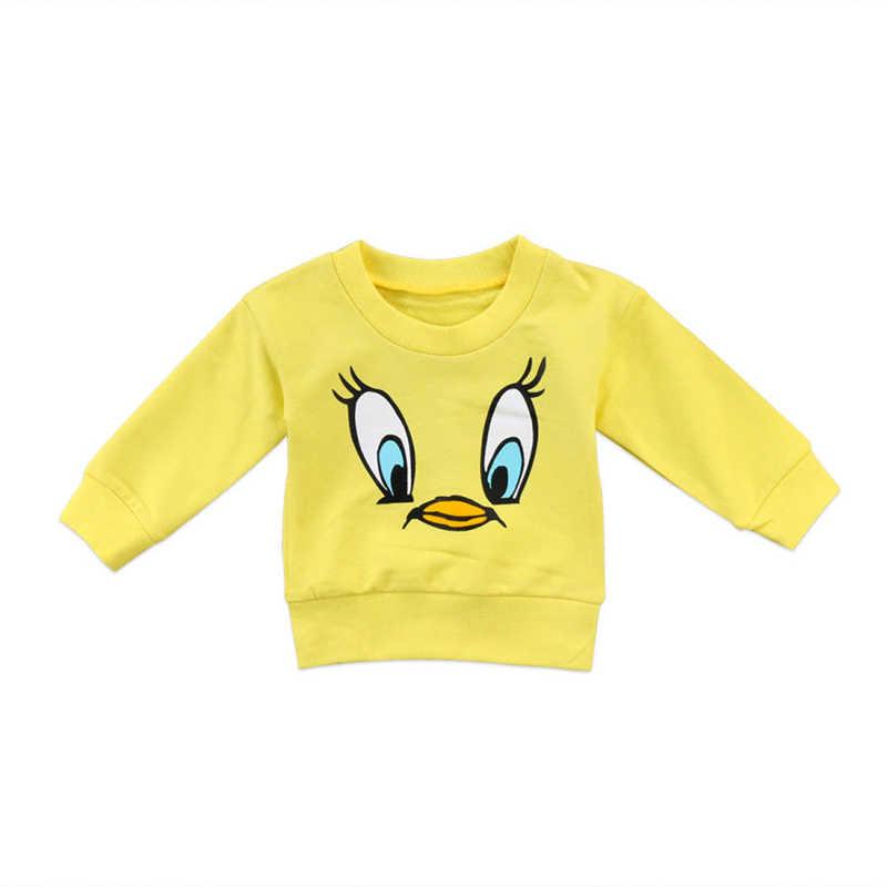 Trẻ em Quần Áo Cho Bé Gái Sơ Sinh Baby Girl Boy Giản Dị Phim Hoạt Hình Top Hoodie Dài Tay Áo T-Shirt Áo Len Áo Quần Áo MỚI