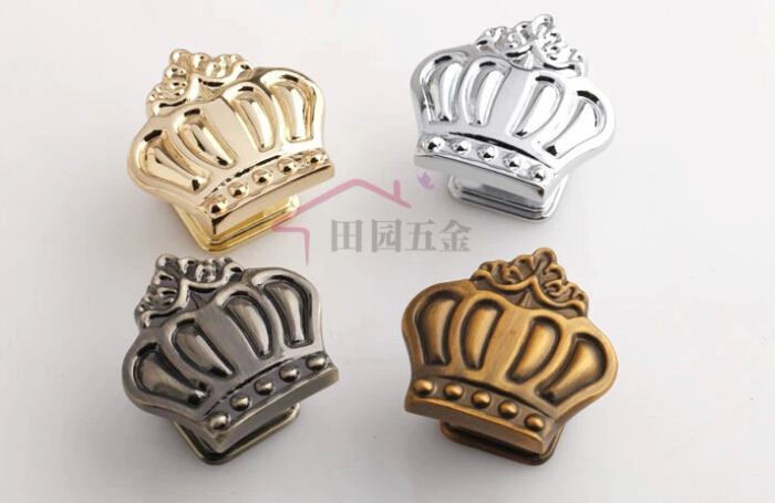 10pcslot 35mm home decorative closet kitchen drawer door cabinet knob handle pulls crown shape - Decorative Drawer Knobs