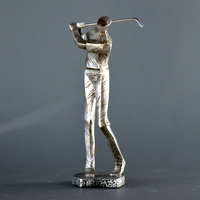 American abstract characters crafts are restoring ancient ways golfer decoration Home study desk Decorative Crafts