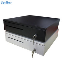 Cash Drawer POS Cash Register Drawer Five Grids Three Section of the Cashbox with RJ11 Interface for Supermarket Cashier Box
