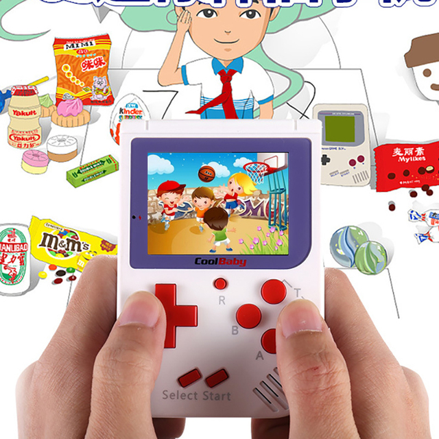 TV Output Video Game Console Built in 129 Classic No Repeat Games Retro Mini Pocket Handheld Game Player Best Kids Gift