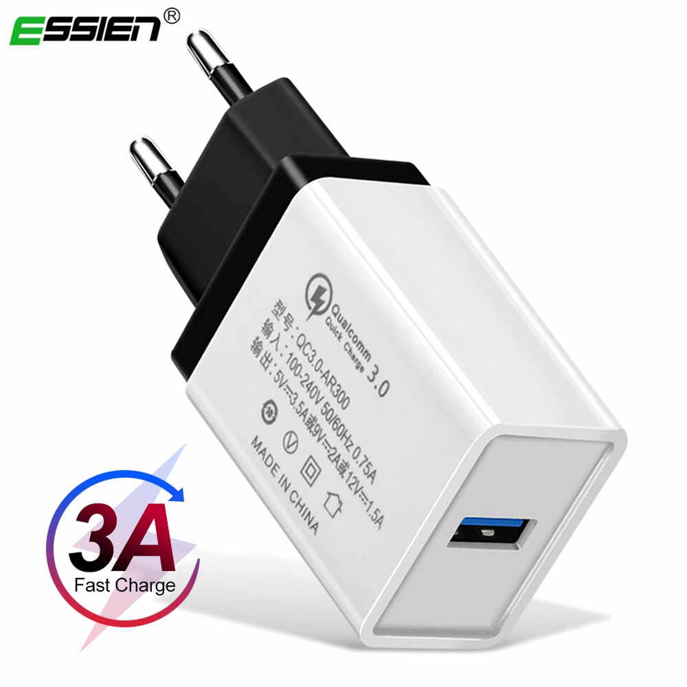 Essien Universal 5V 3.5A Charger Cepat 3.0 Cepat Charger USB Dinding Charger untuk iPhone X/8/7 /7/6 S/6/6 S/5s/5c/SE untuk Samsung S8/Note8