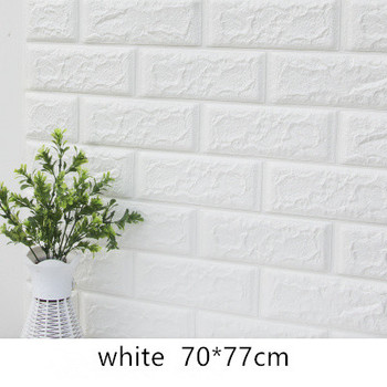 DIY Self Adhensive 3D Brick Wall Stickers Living Room Decor Foam Waterproof Wall Covering Wallpaper For TV Background Kids Room 13