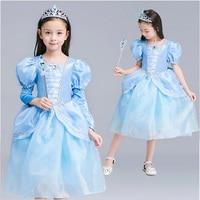 2016 Halloween children's clothing Cinderella princess dresses girls Costume dress S1809