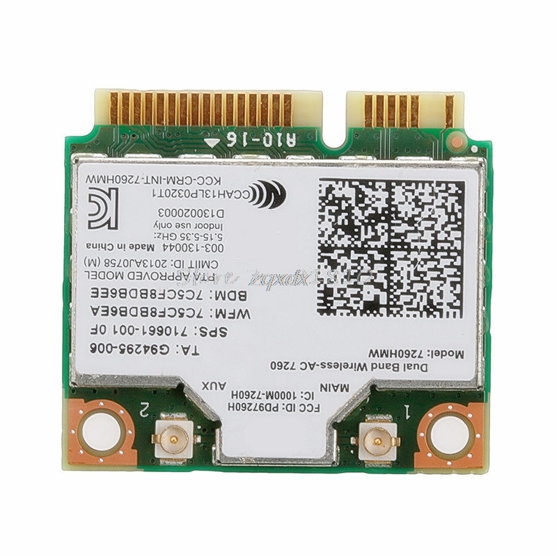 For Dual Band Wireless-AC 7260HMW Mini PCI-E BT4.0 Card For Intel For HP SPS 710661-001 Z07 Drop ship
