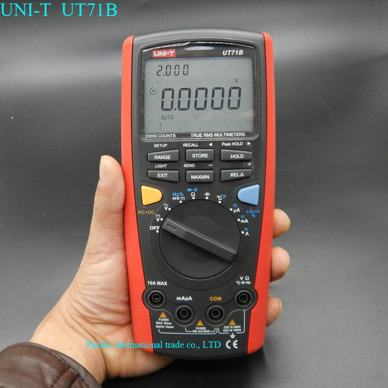UNI-T UT71B professional Intelligent LCD Digital AC DC current voltage USB true REL Resistance Tester Ammeter Multitester uni t ut71b professional intelligent lcd digital ac dc current voltage meter usb true rel resistance tester ammeter multitester
