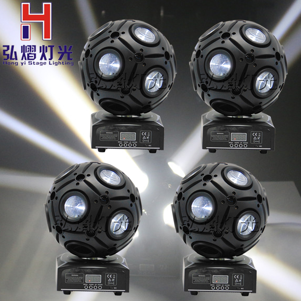 4pcs/Lot Colors 9x10W led magic ball beam moving head light/9 eyes football/DJ/disco/stage decoration/mobile entertainers