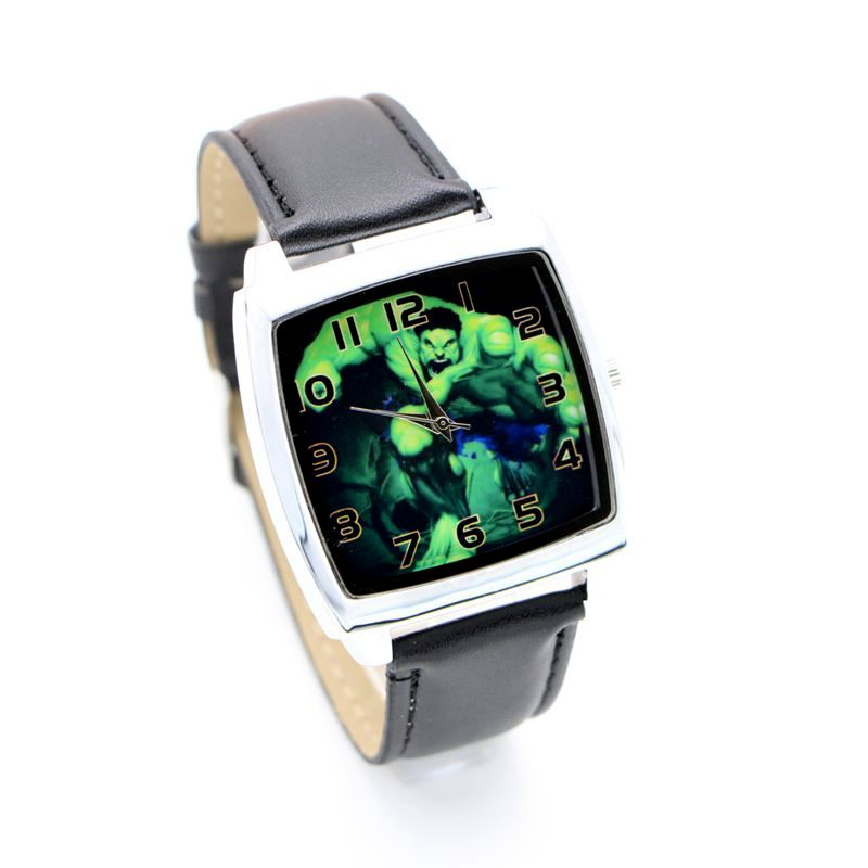 Avenger Cartoon Captain America Hulk Kids Lady Watch Fashion Casual Digital Style Quartz Leather Watches Relojes 1pcs
