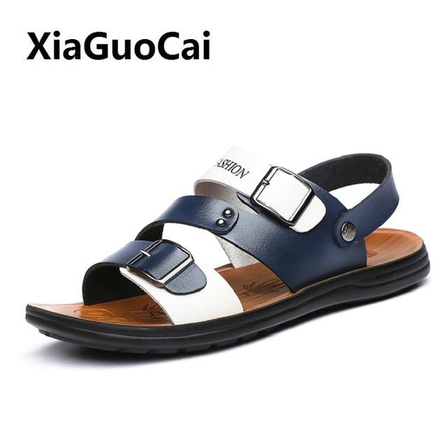 7f078e0e27d New Famous Brand Casual Men sandals Slippers Summer Shoes Beach flip flops  Soft Bottom Beach Sandals Shoes Driving Shoes YC524