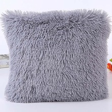 Fur Pillow Case Almofada Plush cushion cover kussenhoes coussin decoration decorative pillows travesseiro cojines Sofa pilow