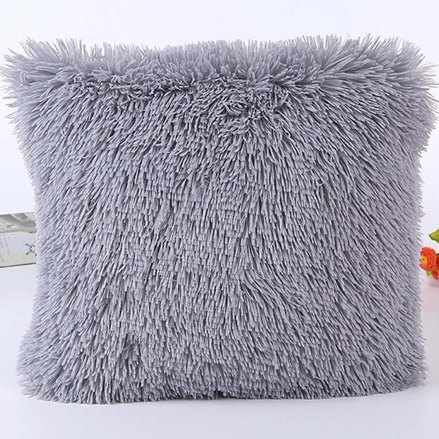 Fur Pillow Case Plush cushion covers Sofa kussenhoes coussin decoration decorative throw pillows travesseiro cojines pilow