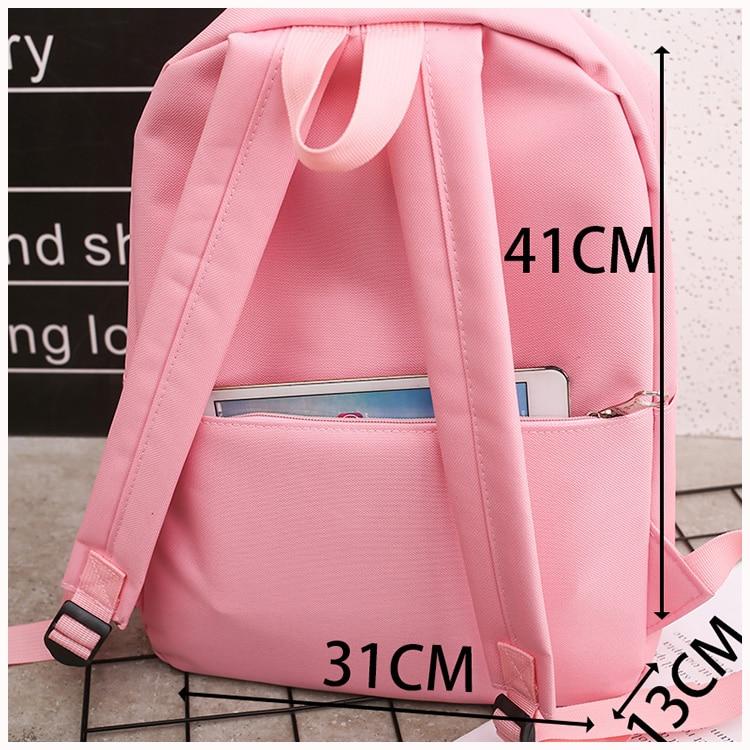 HTB1BOsaQkzoK1RjSZFlq6yi4VXa3 4Pcs/set Women School Backpacks Nylon Schoolbag For Teenagers Girls Student Book Bag Boys Satchel Bolsas Mochilas Sac A Dos