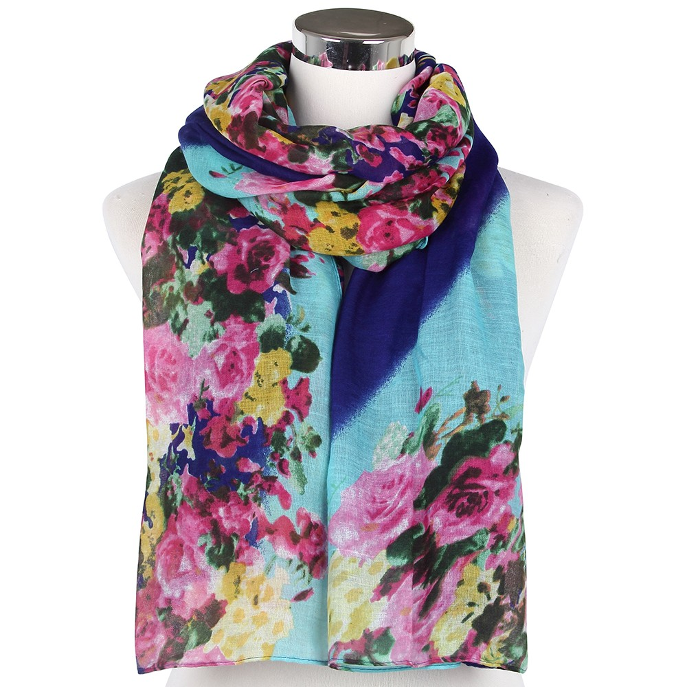 Colorful Floral Spring Scarves | Infinity Scarves