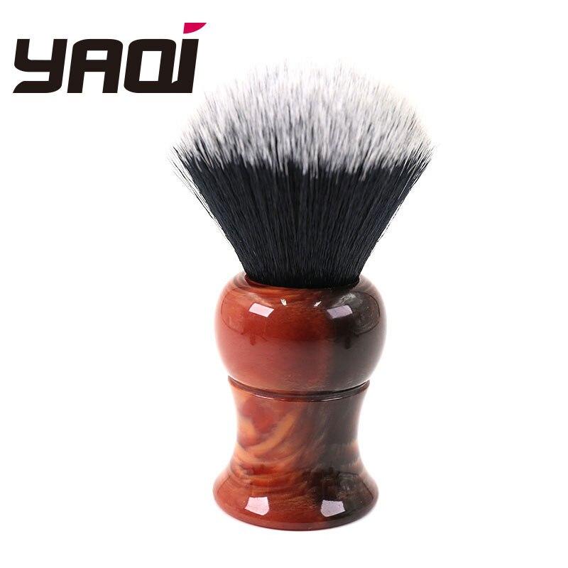 Yaqi Grande Formato 26 millimetri degli uomini di Pennello Da Barba con Manico In Resina Smoking Nodo Per Gli Uomini