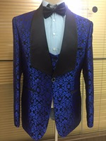 FREE SHIPPING 2017 new fashion man flower suits` party style