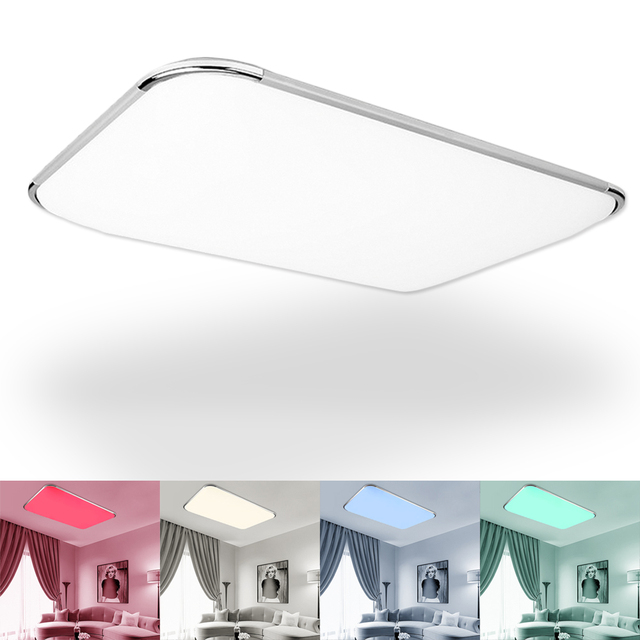 Modern 48w Pvc Lampshade Led Ceiling Lamp Light Indoor Lighting Fixtures Rgb Remote Control Foyer Bedroom Living Room