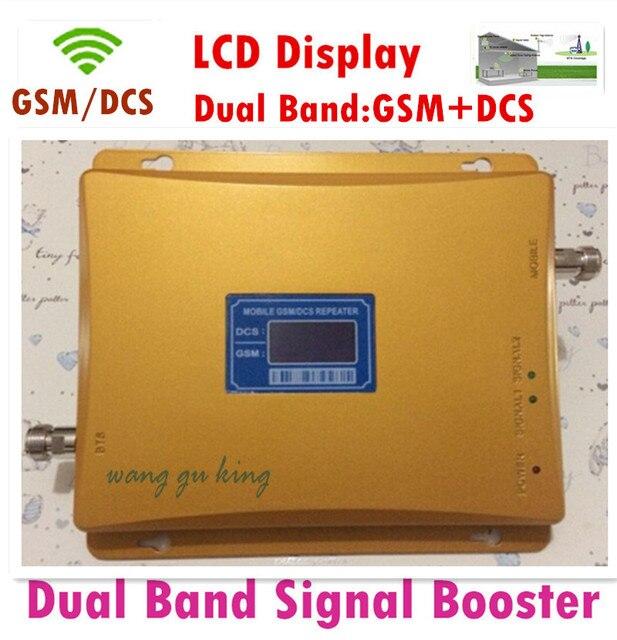 ЖК GSM DCS Ретранслятор 900 1800 Сотовый Телефон Усилитель Сигнала Двойной GSM Репитер 900 1800 Бустер Repetidor для Сотового Телефона