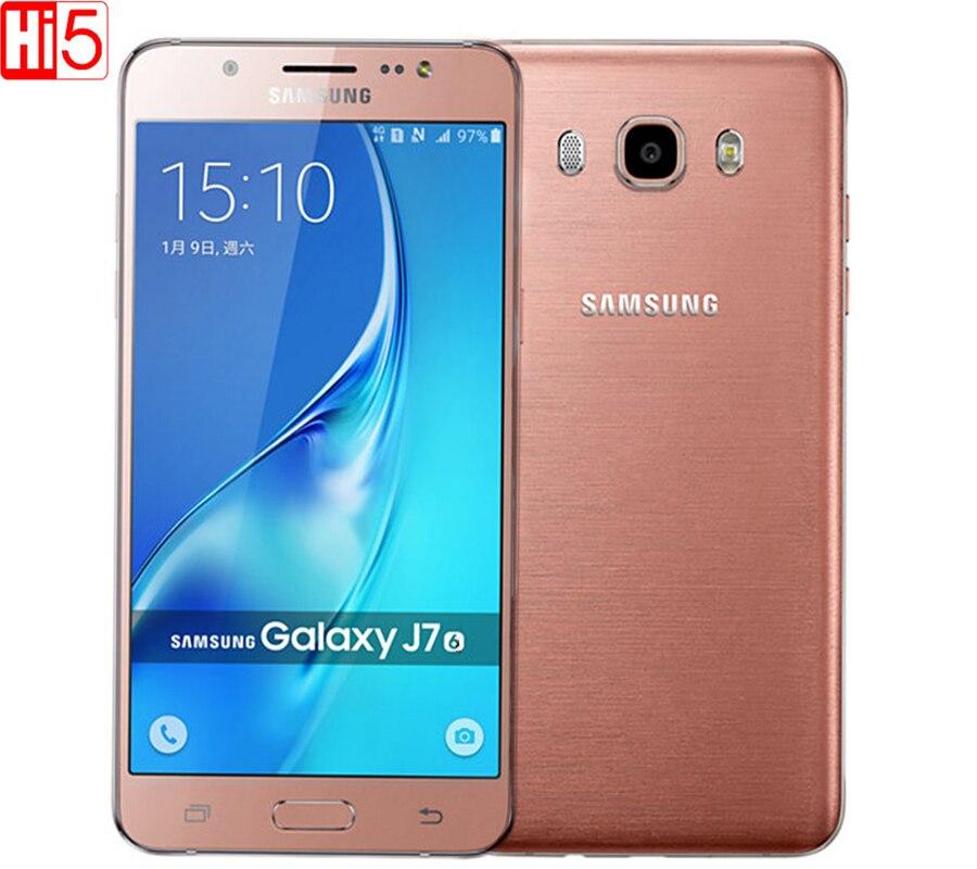 "Цена за Samsung galaxy j7 (2016) мобильный телефон Dual Sim 5.5 ""дюймов 16 ГБ ROM 3 ГБ RAM окта ядерный 3300 мАч FDD/TDD LTE Смартфон"