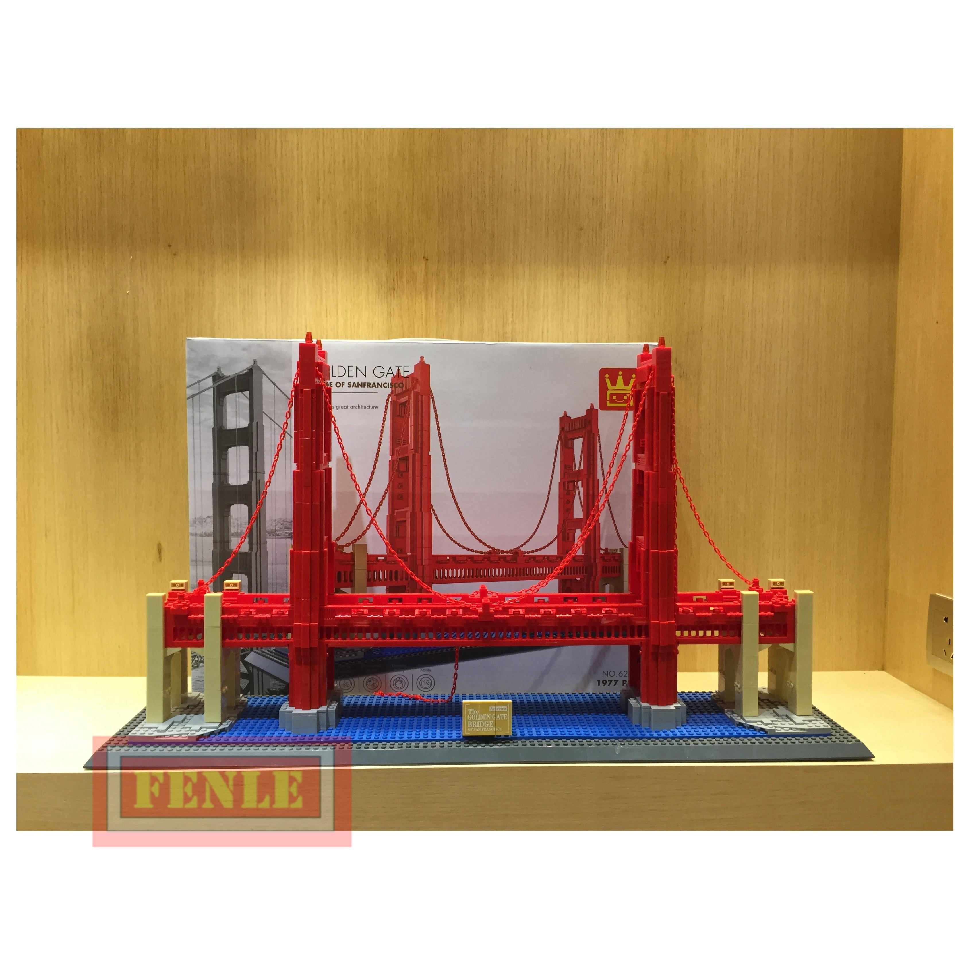 8023 6210 Famoso Edificio Serie Golden Gate Bridge 1977Pcs Building Blocks Mattoni Set di Modello di Architettura Compatibile-in Blocchi da Giocattoli e hobby su  Gruppo 1