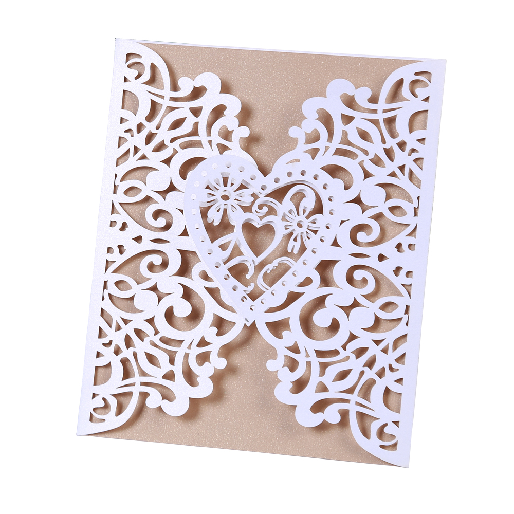 20 Pieces Tri Folding Type Love Plants Style Wedding Invitations Card Party Favors Gift Birthday Etiquette