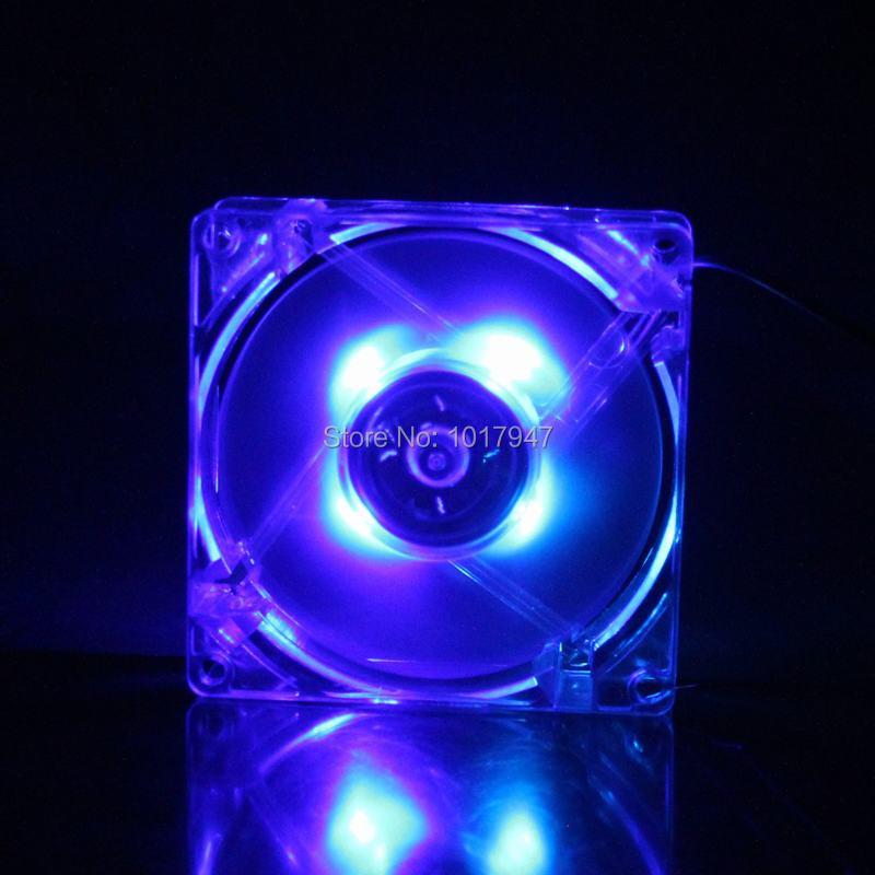 popular 4 wire computer fan buy cheap 4 wire computer fan lots 1pcs lot gdstime blue led pc computer case dc 12v brushless cooler cooling fan 80mm 80