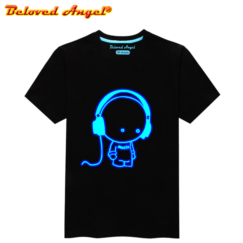 Luminous Short Sleeves T-Shirt For Boys T Shirt Spiderman Christmas Teen Girl Tops Size 3-15 Years Teenage Toddler Boy Tshirts
