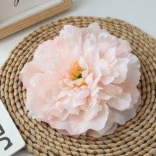 3pcs big peony high-grade artificial flower fake wedding home wall background decoration manual DIY