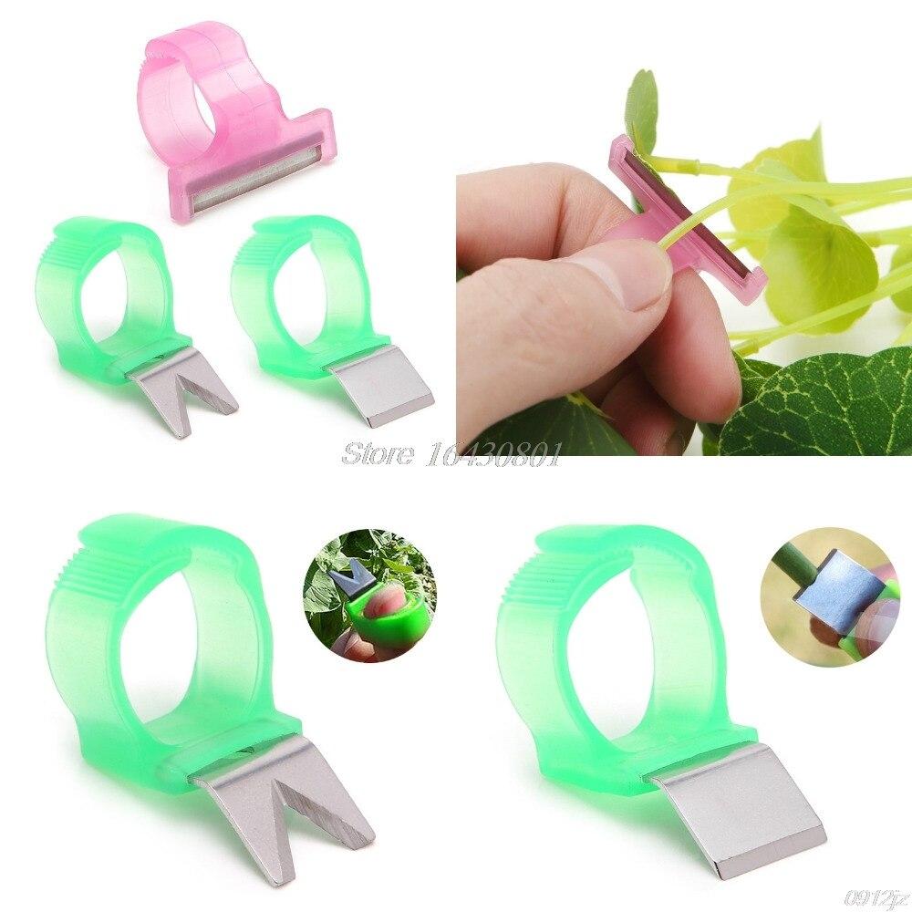 Tomato Cucumber Grape Fruit Picking Garden Tools Blade Cutting Scissors Rings qiang