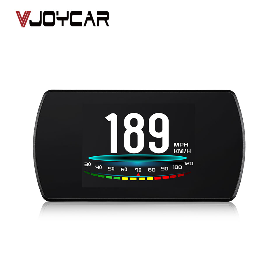 VJOYCAR P12 4.3 TFT OBD GPS Hud Head Up Display Digital Projetor Velocidade Do Carro On-board Computer OBD2 Velocímetro código de falha Clara