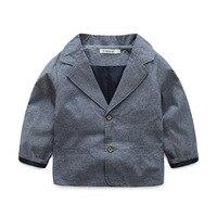 Children S Suit Jacket 2017 Spring New Boy Fashion Gray Suit Coat Baby Suit