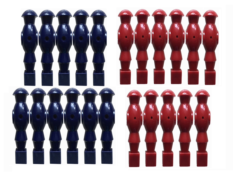NEW FREE SHIPPING 22PCS 1/2 rod blue/RED Foosball Soccer Table football man Player men replacement parts 15 sea shipping adult games inflatable soccer field football table inflatable human foosball court