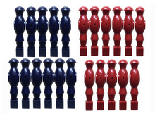 NEW FREE SHIPPING 22PCS 1/2″ rod blue/RED Foosball Soccer Table football man Player men replacement parts 15