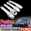 For Ford Fusion 2006 2012 Chrome Handle Cover Trim Set 2007 2008 2009 2010 2011 SE