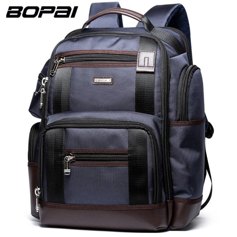 Bopai бренд многофункциональный Путешествие Рюкзак Большой Ёмкость Плечи сумка ноутбук рюкзак модные Для мужчин рюкзак размер 43*35*20 см