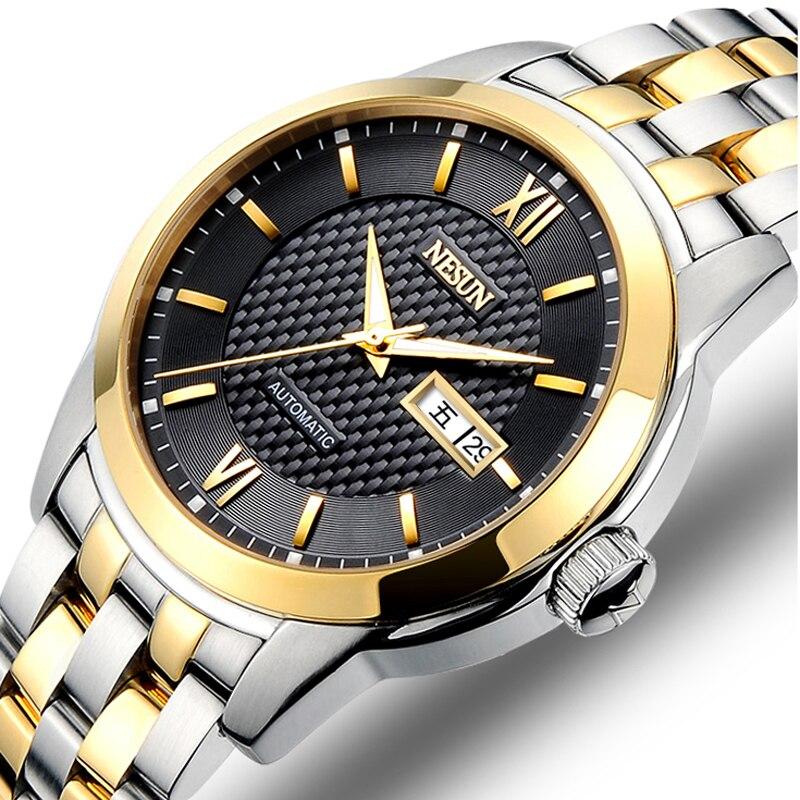 где купить New Nesun Men Watches Luxury Brand Japan MIYOTA Automatic Mechanical Movement Wristwatches Sapphire Waterproof Watch Men N9203-1 по лучшей цене