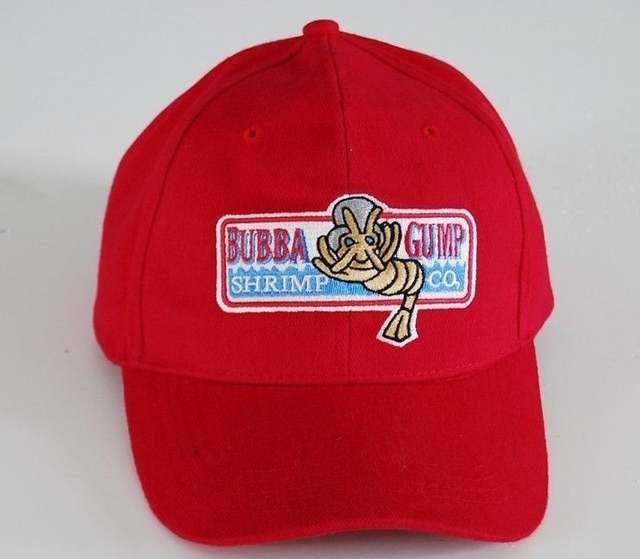 placeholder Bubba Gump Shrimp Co hat Run Forrest Tom Hanks Halloween party  red Sport Summer cap 198b5e6a205f