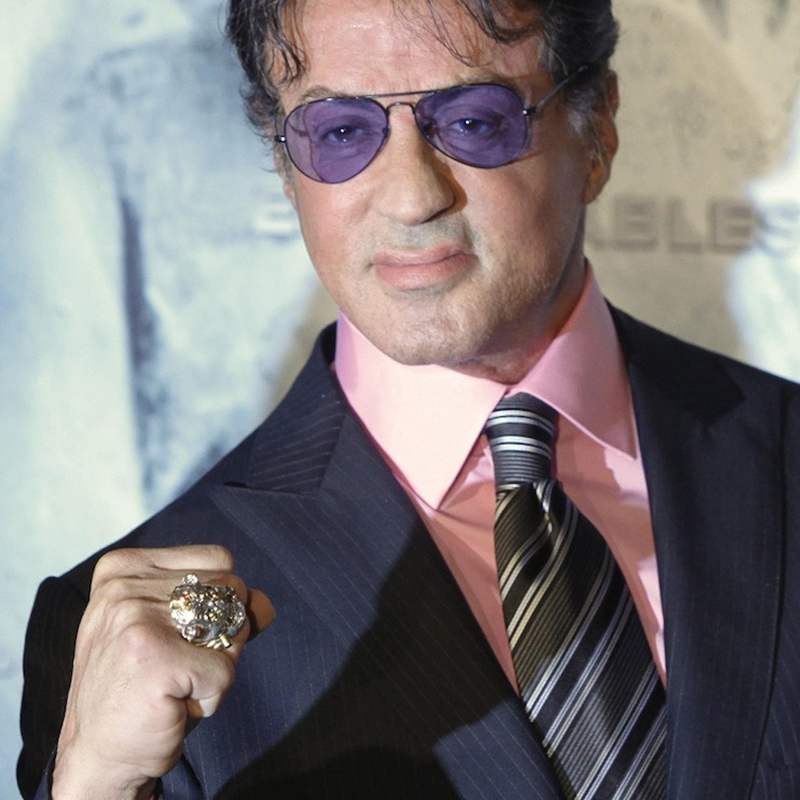 OGRM Sylvester Gardenzio Stallone Lucky Ring 925 Sterling Ring Men Movie Cosplay Jewelry Customize