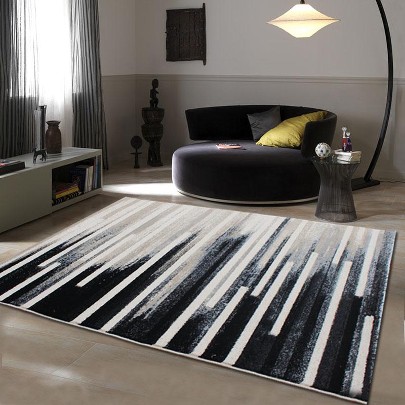 Tapis abstrait de Style européen de luxe WINLIFE, salon contemporain, tapis de chambre, tapis en laine manuels.