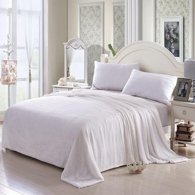 Copripiumino Chanel.100 Cotton Plain Quilt Cover White Inner Duvet Cover For Diy Silk