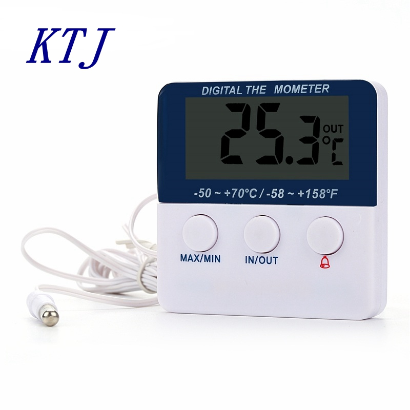 smart indoor outdoor alarm thermometer household greenhouse max min lcd digital table. Black Bedroom Furniture Sets. Home Design Ideas