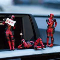 Marvel x-men Deadpool osobowość samochód Ornament figurka siedzący Model Anime mała lalka dekoracji samochodu akcesoria samochodowe