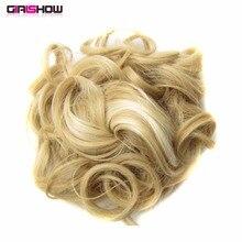 Girlshow/ стиль, волнистые синтетические волосы для наращивания Q6, эластичные накладные волосы, 34 Цвета, 10 шт./лот