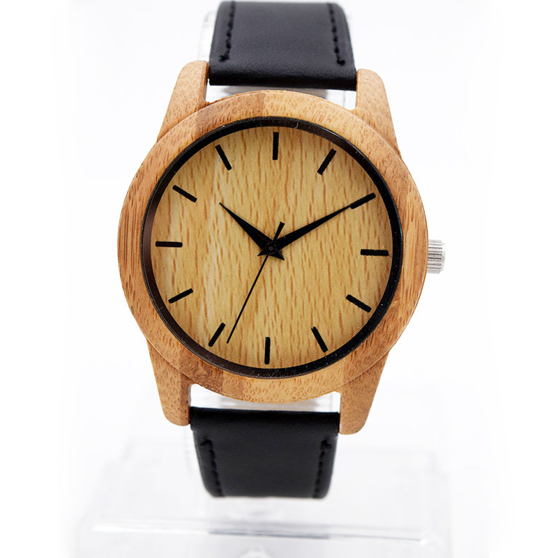 Lovers Wood Watch With Genuine Cowhide Leather Natural Wooden Watches Luxury Mens Wristwatch  As Gifts Bamboo Wooden Watch Man fashion new antique genuine cowhide leather band lovers luxury watches zebra wood bamboo wristwatch for women as best gifts