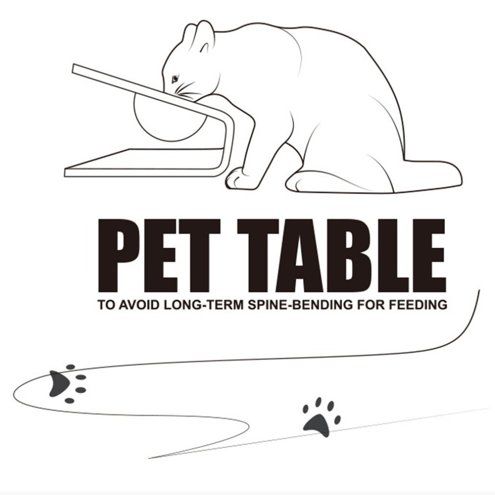 Pet Products Cats Dog Dish Rack Pet Bowl Container Solid Wood Dog Bowl Shelf Rack Pet Dining Table Universal Pet Supplies